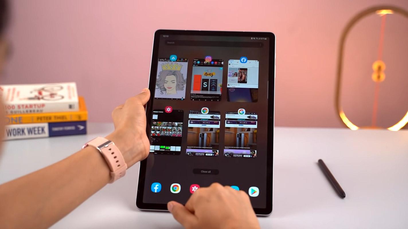 Samsung Galaxy Tab S7 FE recent apps